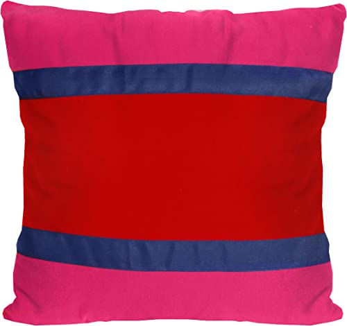 Teen Vogue Sweet Floral Banded Stripe Pillow, 18 by 18-Inch