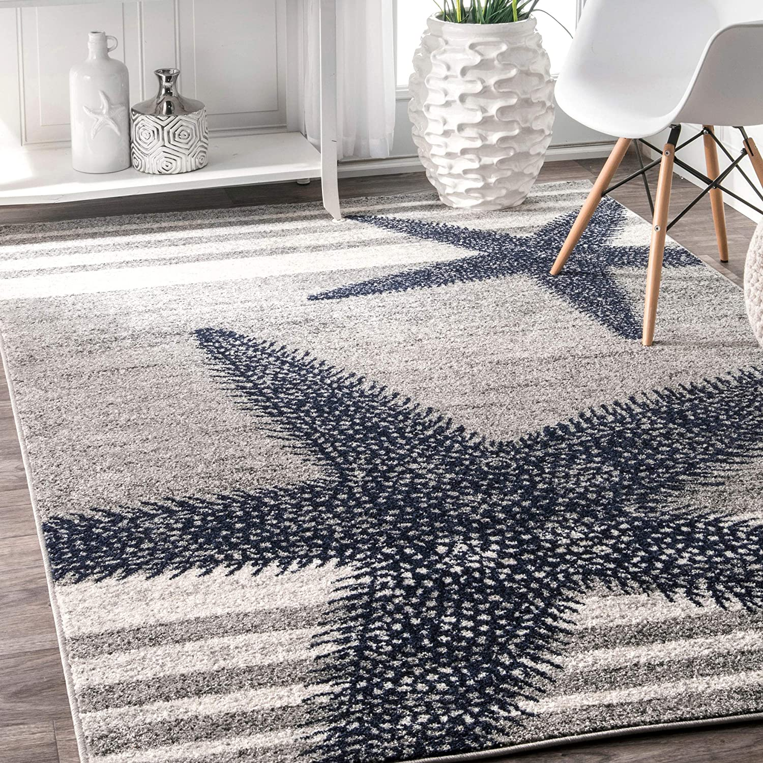 "nuLOOM Thomas Paul Starfish Area Rug, 7' 6"" x 9' 6"", Gray"