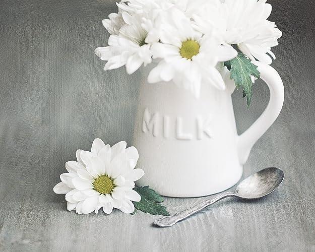 amazon com white kitchen wall art milk creamer jug with white