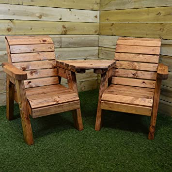kids hand made childrens garden furniture chunky rustic wooden love seat - Garden Furniture Love Seat