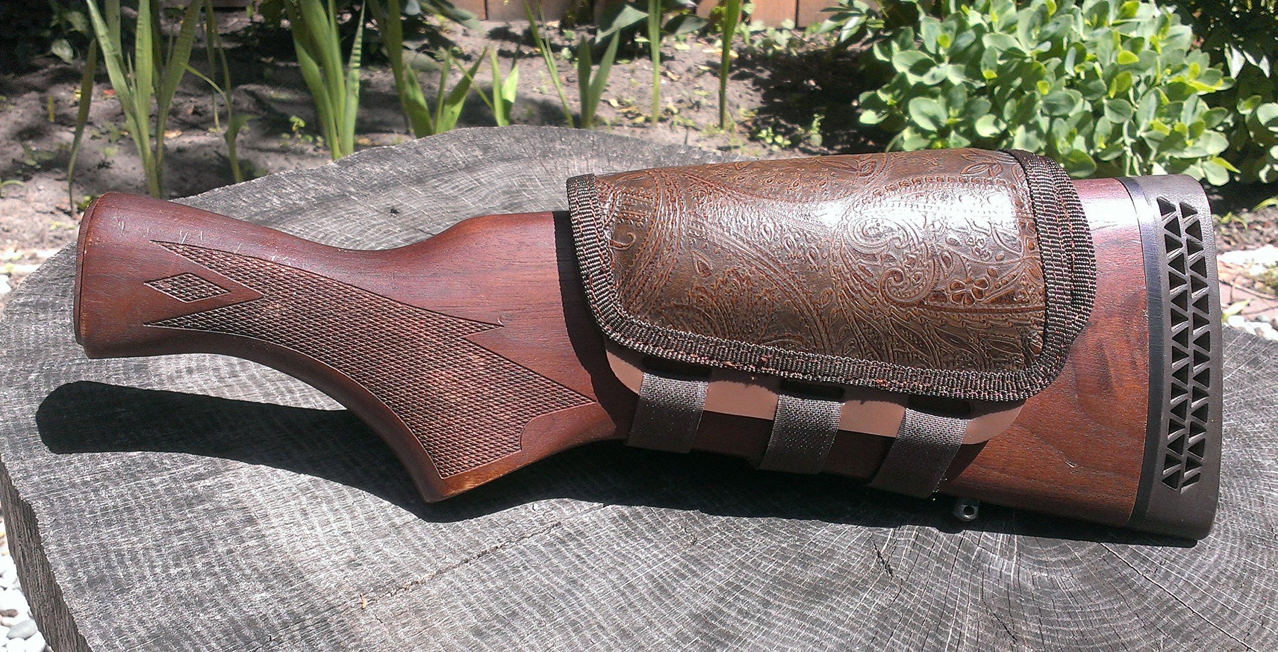 ITC Rifle Cheek Pad/Cheek Riser/CheekRest Marksmanship (Old World Paisley Leather) by ITC