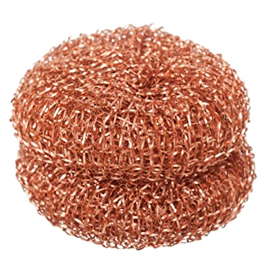 Redecker Copper Pot Scrubber, Set of 2, Durable and Non-Abrasive Scrubber, Removes Stubborn Rust and Dirt on Appliances, Cookware and Auto-Parts, Machine Washable
