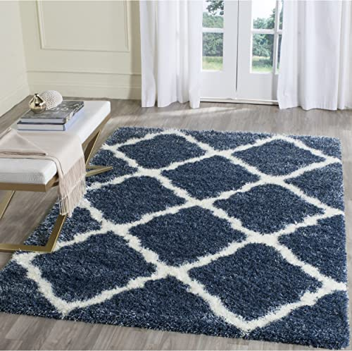 Safavieh Montreal Shag Collection Area Rug, 8 x 10 , Blue Ivory