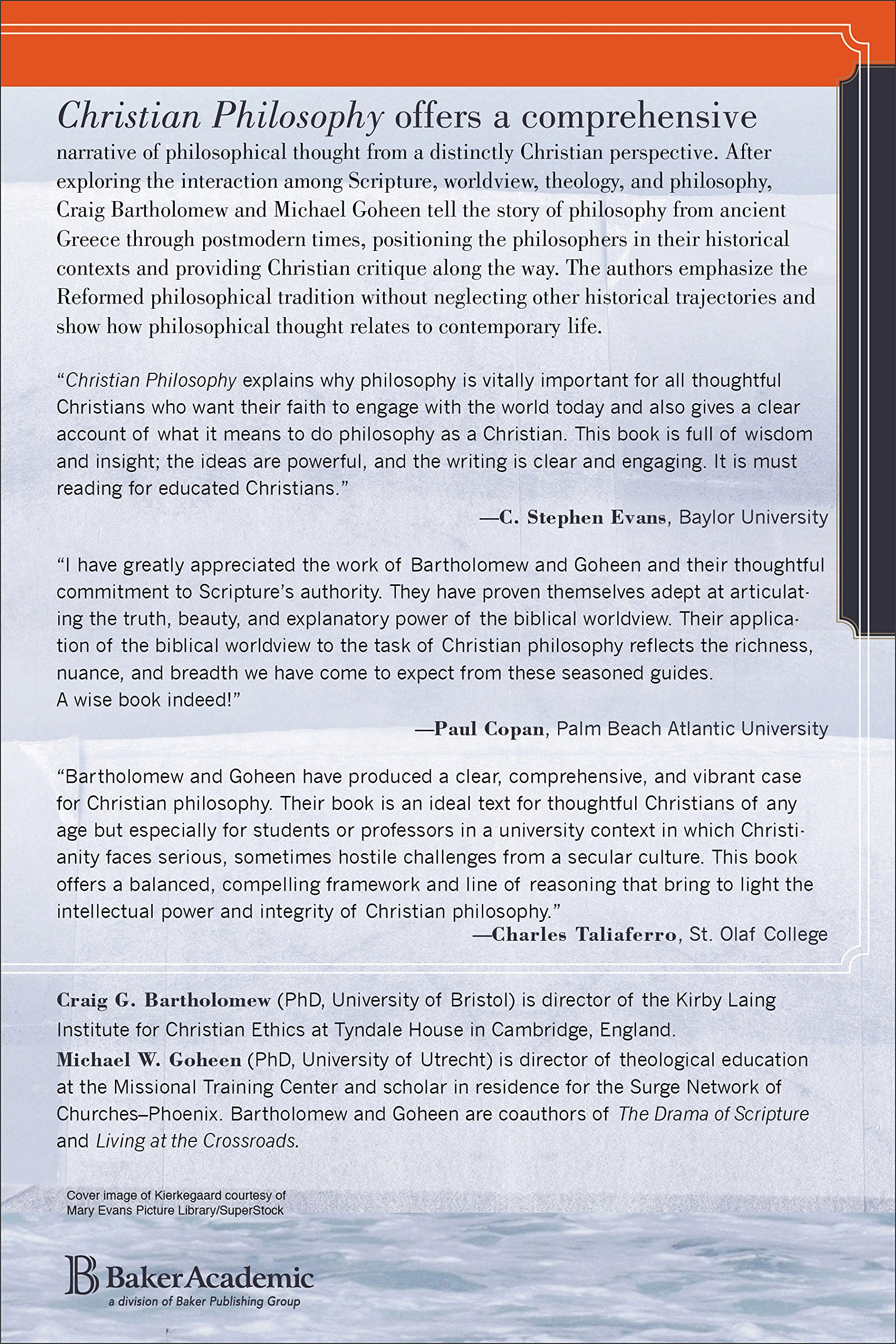 Christian philosophy a systematic and narrative introduction christian philosophy a systematic and narrative introduction craig g bartholomew michael w goheen 9780801039119 amazon books fandeluxe Choice Image