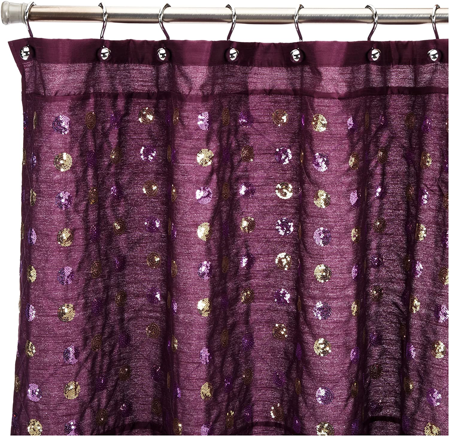 purple and gold shower curtain. Amazon com  Popular Bath Sequins Shower Curtain Purple Home Kitchen
