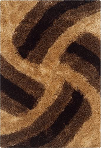 Safavieh 3D Shag Collection SG553D Handmade Mink Area Rug 2 x 3