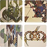 """CoasterStone AS1840 Absorbent Coasters, 4-1/4-Inch, """"Frank Lloyd Wright Graphic Designs"""", Set of 4"""