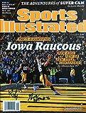 IOWA HAWKEYES Kittle & VandeBerg autographed Sports Illustrated magazine 11/30/15