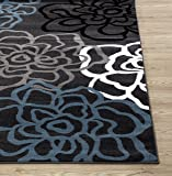 """Contemporary Modern Floral Flowers Area Rug 6' 6"""" X"""