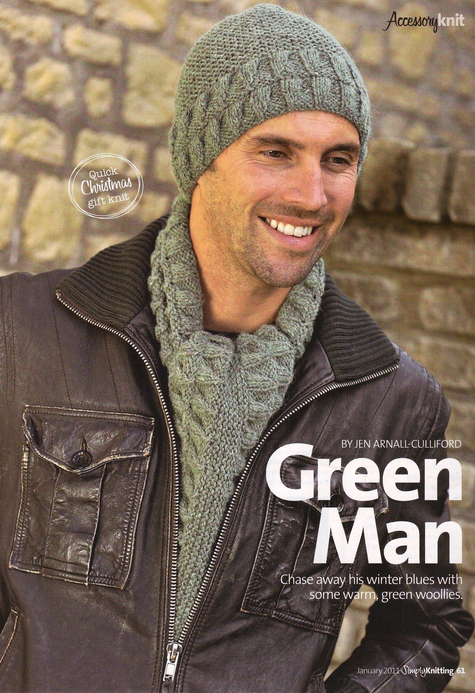 Men s Aran Hat and Scarf by Jean Arnall-Culliford Knitting Pattern   Materials Rowan 57c66acfc40