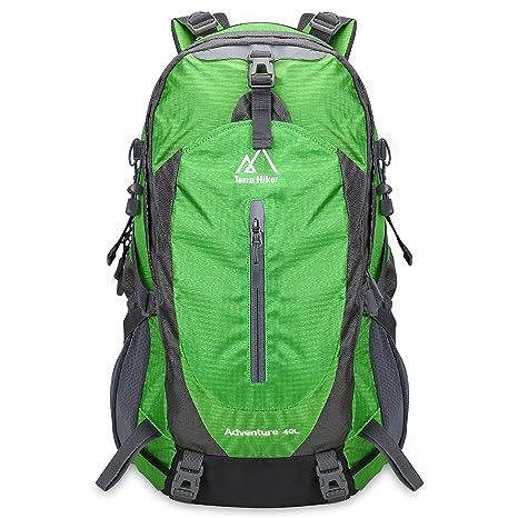 e43e1269ce Zaino Escursionismo 40L, Terra Hiker Zaino da Trekking/Montagna 40L con  Parte Esterna Rimovibile