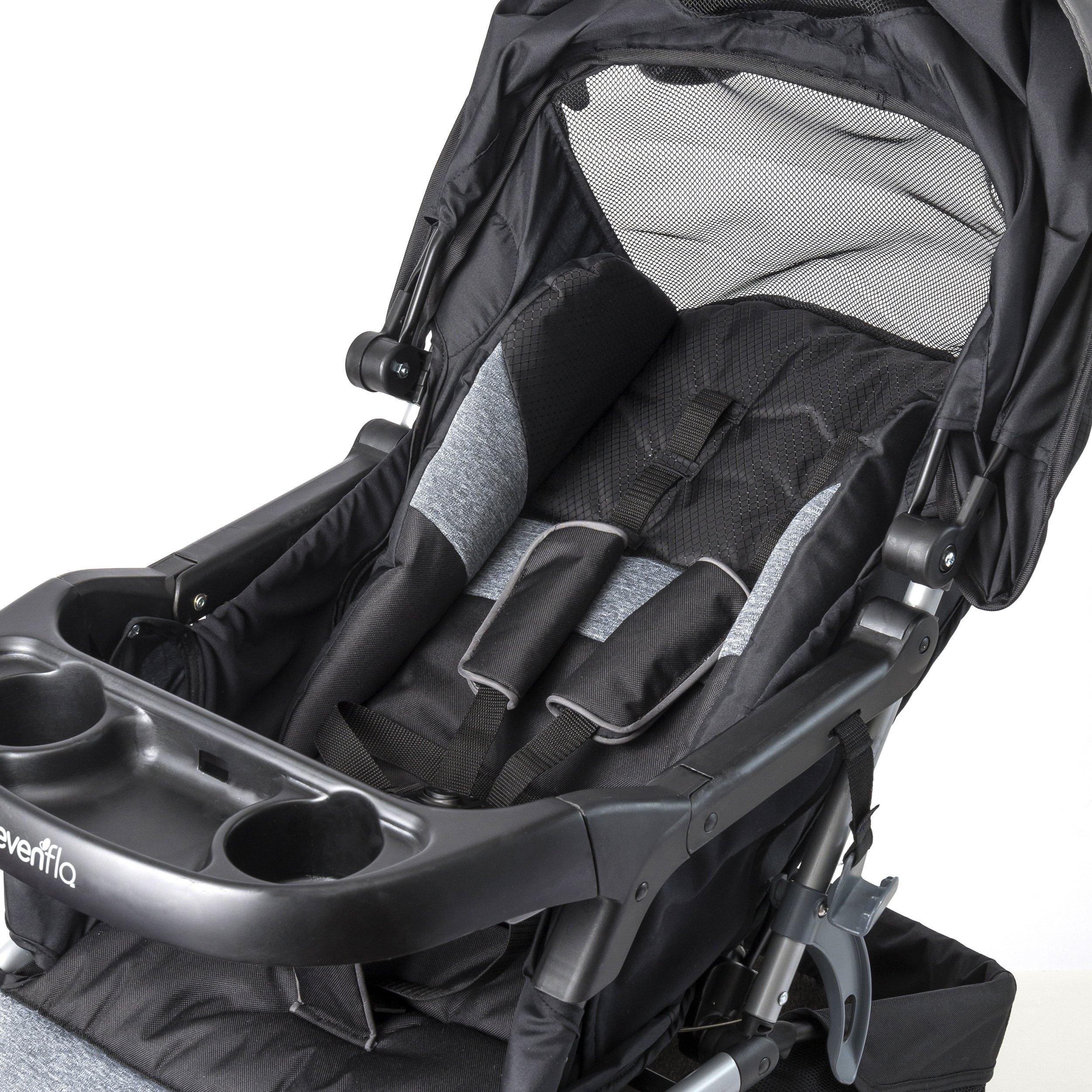 Evenflo Advanced SensorSafe Epic Travel System with LiteMax Infant Car Seat, Jet by Evenflo (Image #7)