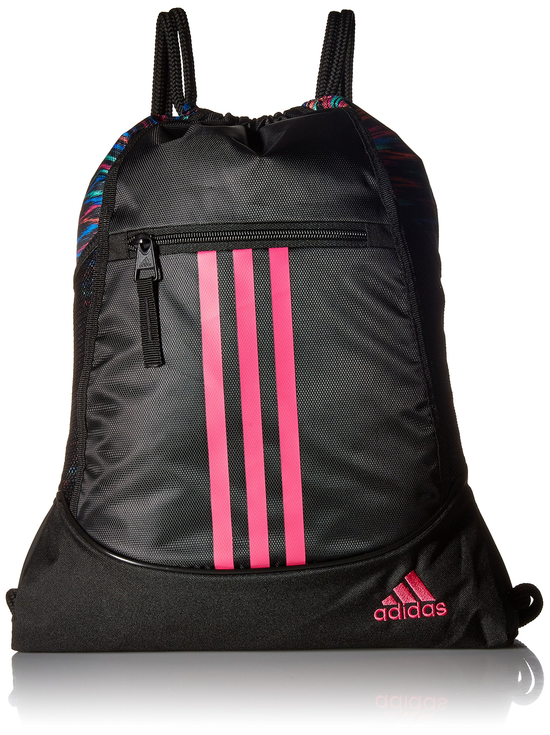adidas Alliance II Sack Pack, One Size, Black Twister/Black/Shock Pink