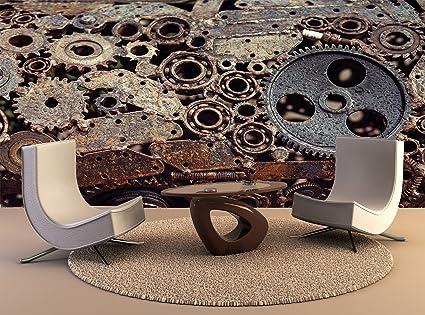fotográfica de impresión de póster mural Diseño Mecánico soldada engranajes Máquinas de Soldadura de pared Idetaley