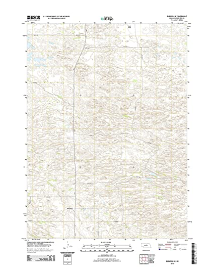 Burwell Nebraska Map.Amazon Com Topographic Map Poster Burwell Ne Ne Tnm Geopdf 7 5x7
