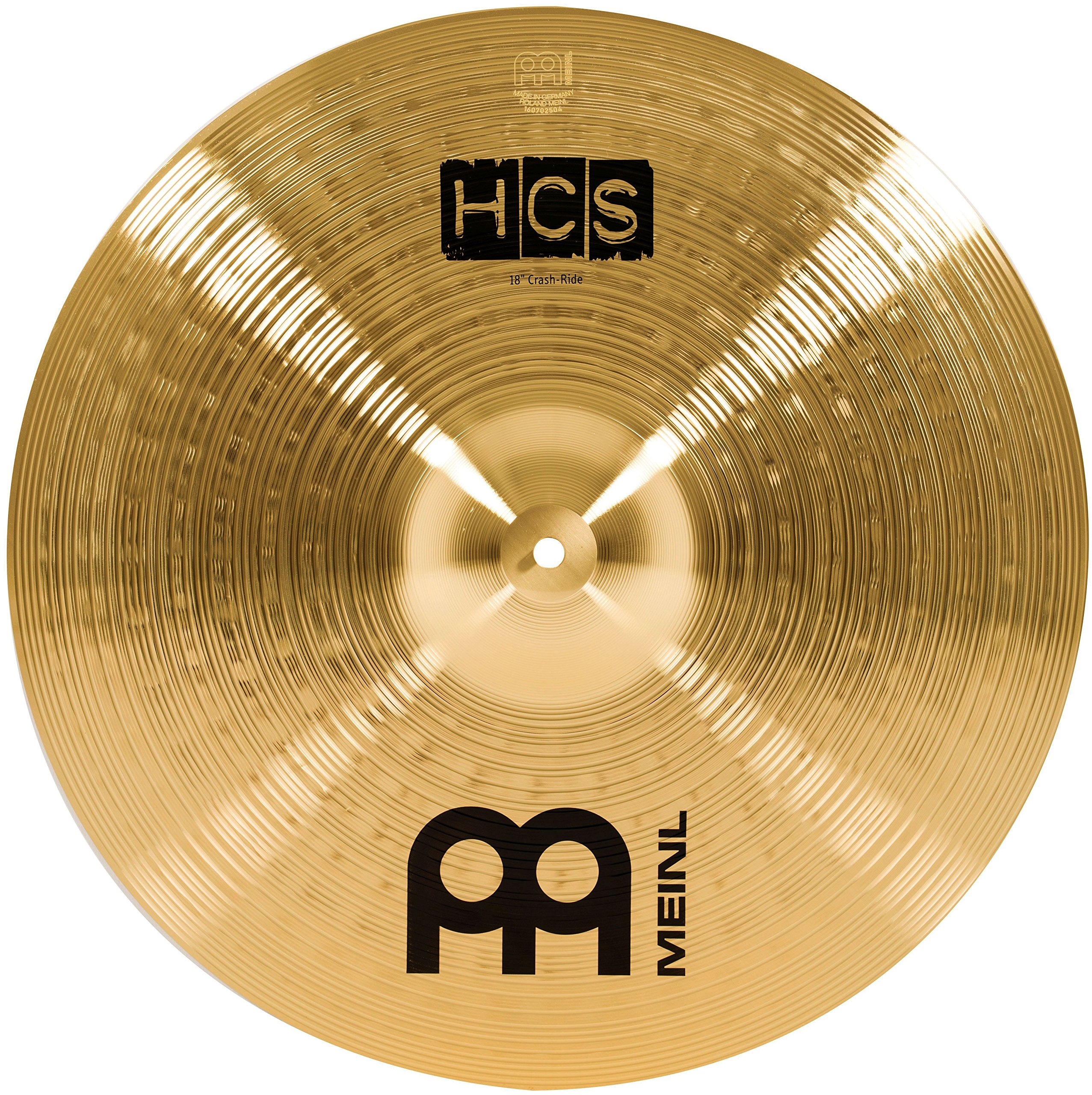 Meinl 18'' Crash/Ride Cymbal - HCS Traditional Finish Brass for Drum Set, Made in Germany, 2-YEAR WARRANTY (HCS18CR) by Meinl Cymbals