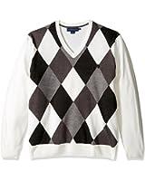 U.S. Polo Assn. Men's Soft Acrylic Argyle V-Neck Sweater