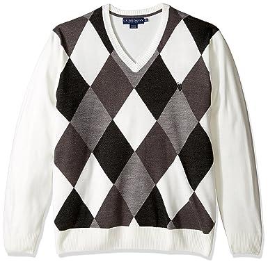 8b3566f5e U.S. Polo Assn. Men s Soft Acrylic Argyle V-Neck Sweater at Amazon ...