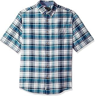 342ccb03f61db1 Woolrich Men's Timberline Short Sleeve Madras Plaid Shirt - 100% Organic  Cotton