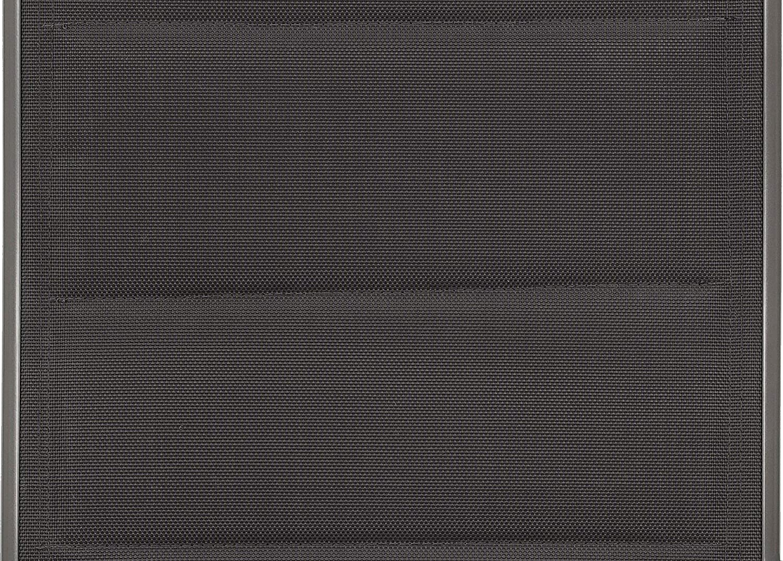 Sillas Plegables Metal Resistentes a la Intemperie Gris Plateado Respaldo Alto Plegable BRUBAKER Set de 2 Milano Sillas de Jard/ín Respaldo Regulable en 8 Posiciones