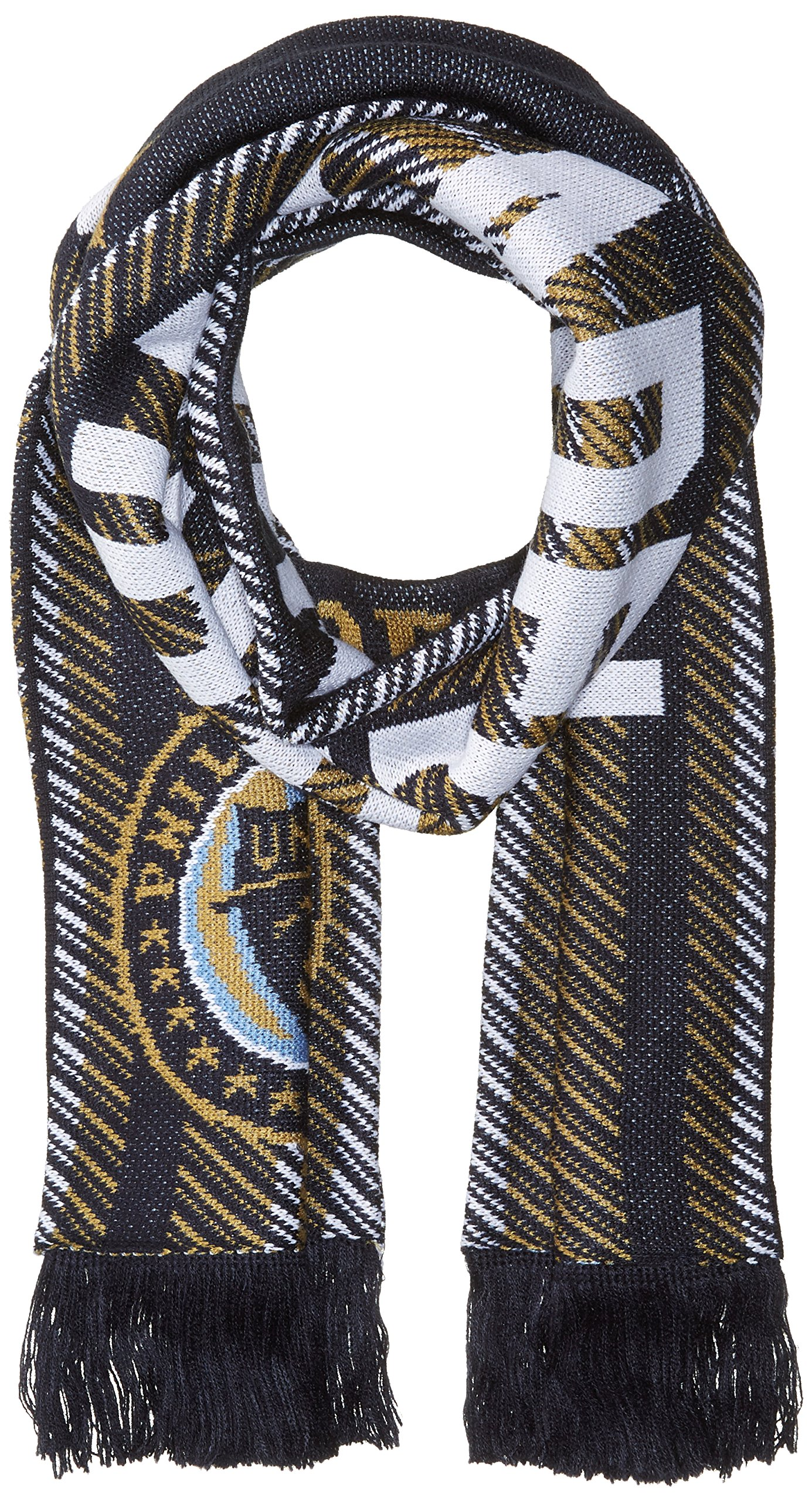 adidas MLS Philadelphia Union Jacquard Scarf with Block Name, One Size, Black