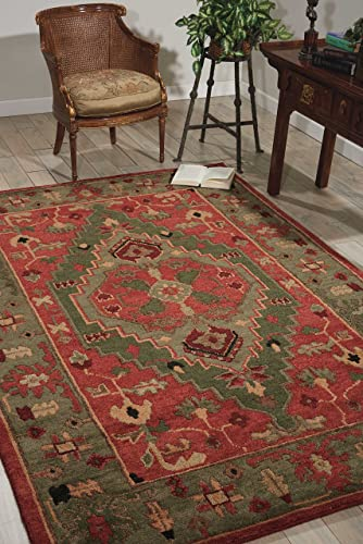 Nourison Tahoe TA01 Rust Rectangle Area Rug, 8-Feet 6-Inches by 11-Feet 6-Inches 8 6 x 11 6