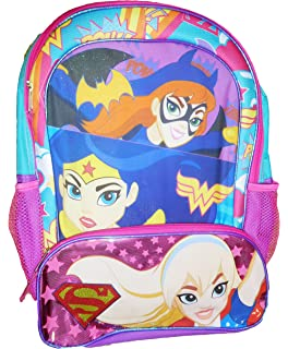 5b0a1a5bc3fe Amazon.com  Super Hero Girls Backpack and Lunch Box Set -- Deluxe 16 ...
