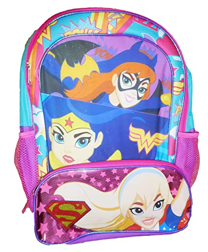 Image Unavailable. Image not available for. Color  Disney DC Comics Super  Hero Girls Logos 16 Backpack Toy b531f6e6f1
