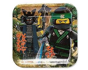 American Greetings Lego Ninjago Paper Dinner Plates, 8-Count