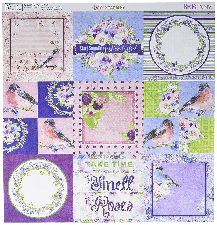 Bo Bunny Secret Garden doppelseitig Karton 12 Zoll x 12-inch-Trellis (25 Stück) B01CWM4VUS | Ausgezeichnete Leistung