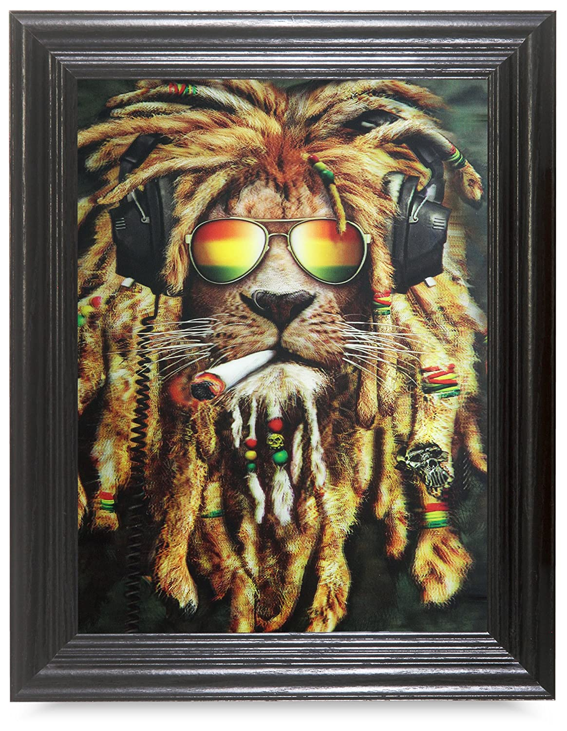 Amazon rasta lion 3d framed holographic wall art lenticular amazon rasta lion 3d framed holographic wall art lenticular technology causes the artwork to have depth and move hologram style images holographic jeuxipadfo Images