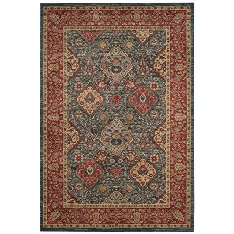 Amazon Com Safavieh Mahal Collection Mah655c Navy And Red Area Rug