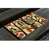 """Kempf Forrest Owls Coco Door Mat with Vinyl Backing (18"""" x 30"""")"""