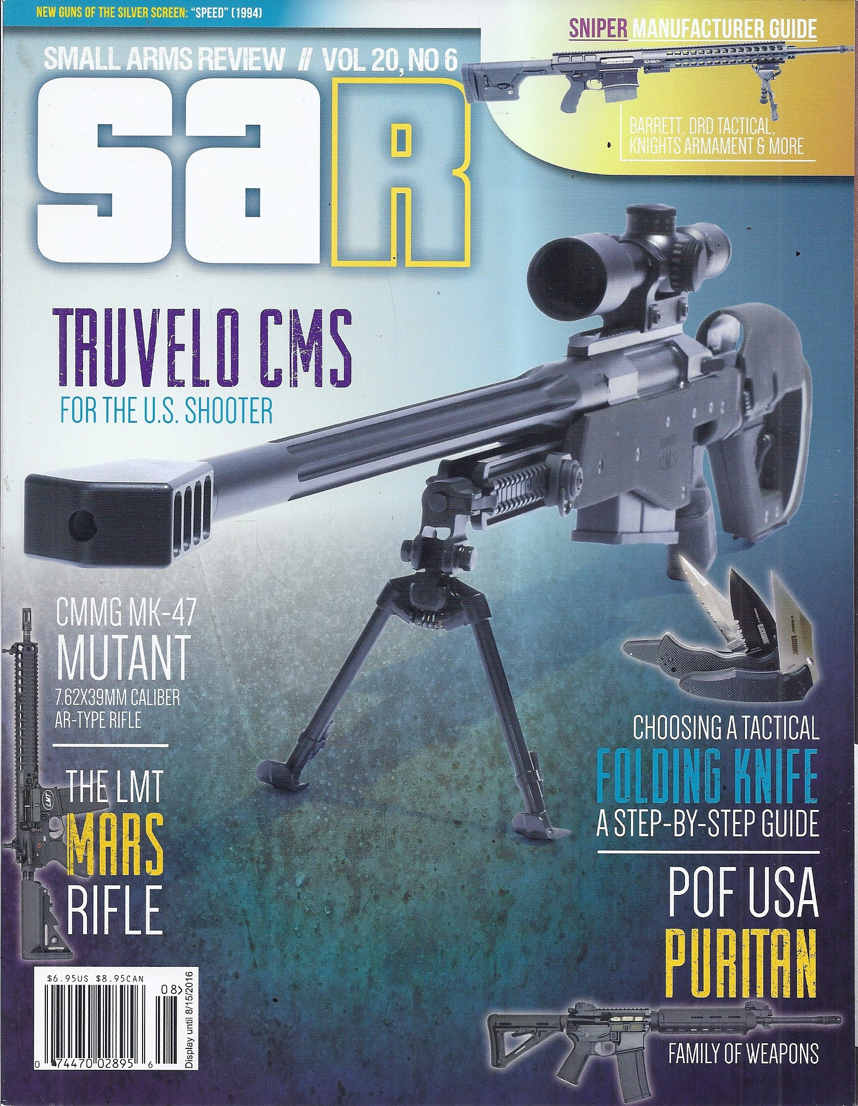 DAR Magazine (Small Arms Review - Vol. 20. No. 6 - July/August 2016 - Truvelo CMS) PDF