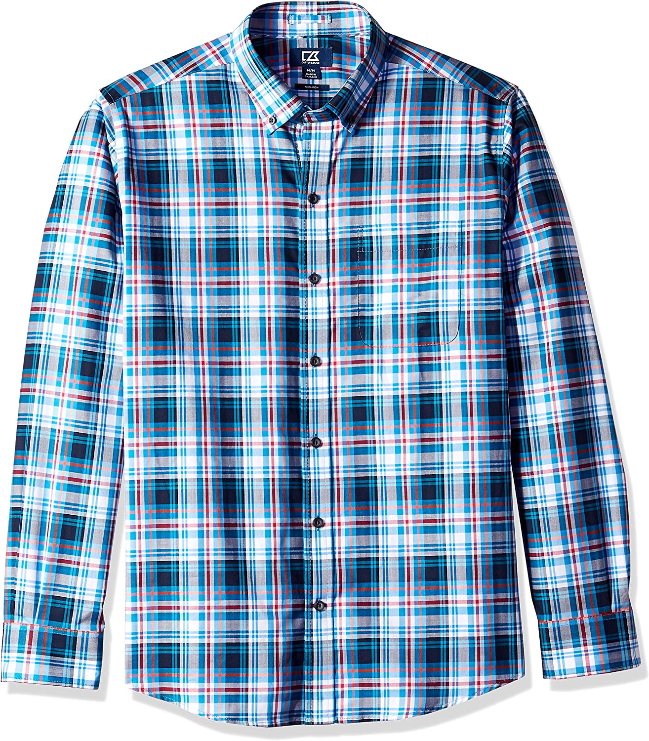 Cutter Special price Buck Men's Large Plaid and Check Care Quality inspection Button Down Easy