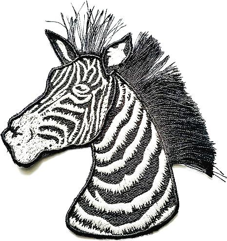 Zoo Zebra Embroidered Iron On Applique Patch Wild Animal