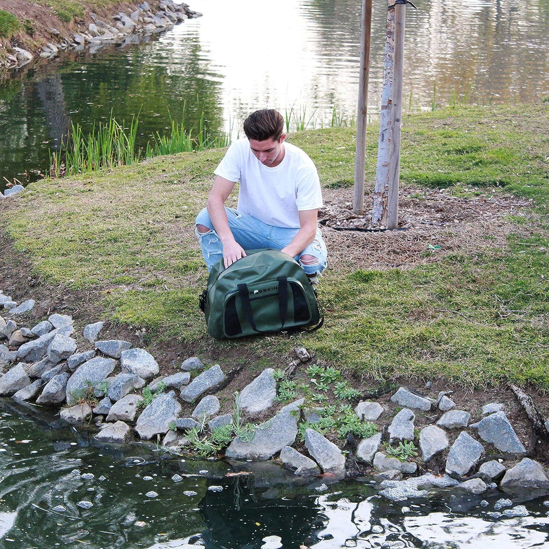 Frogskin Duffel Dry Bag - Waterproof Camping Sack - Adjustable Shoulder Strap or Handle - 40 Liter