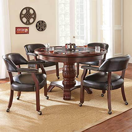 Steve Silver Company Tournament Dining U0026 Game Table, Black
