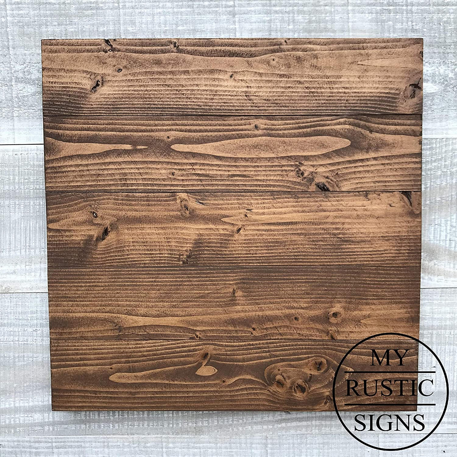 Rustic Wood Sign Blank in Dark Walnut | 12"|1500|1500|?|be5d038d2be858a3abd2afa2e02a64d9|False|UNLIKELY|0.3317427337169647