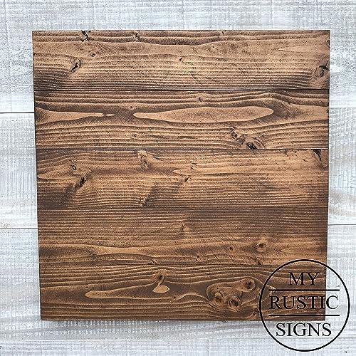 Rustic Wood Sign Blank In Dark Walnut