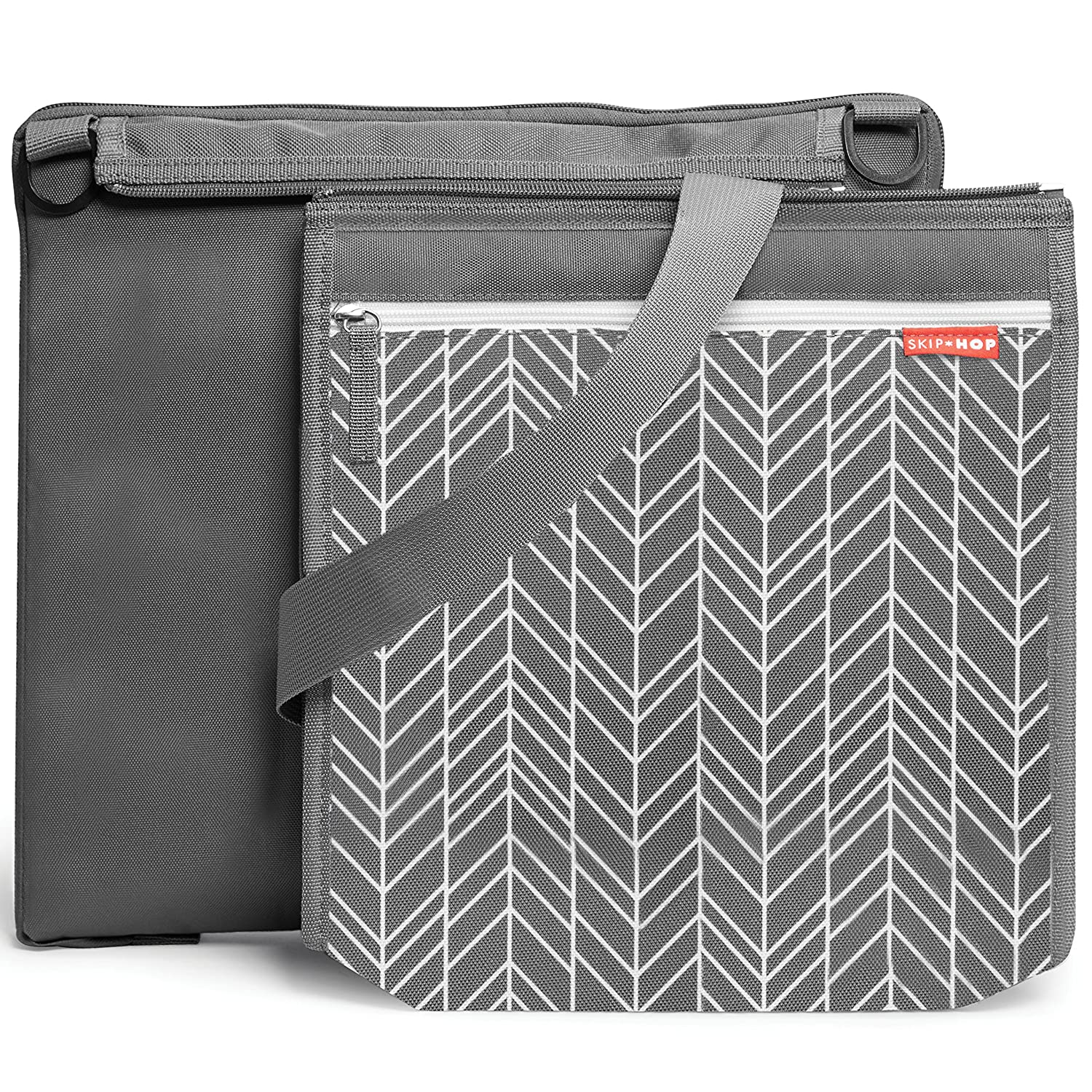 Skip Hop On-The-Go Central Park Outdoor Blanket and Cooler Bag Grey Feather