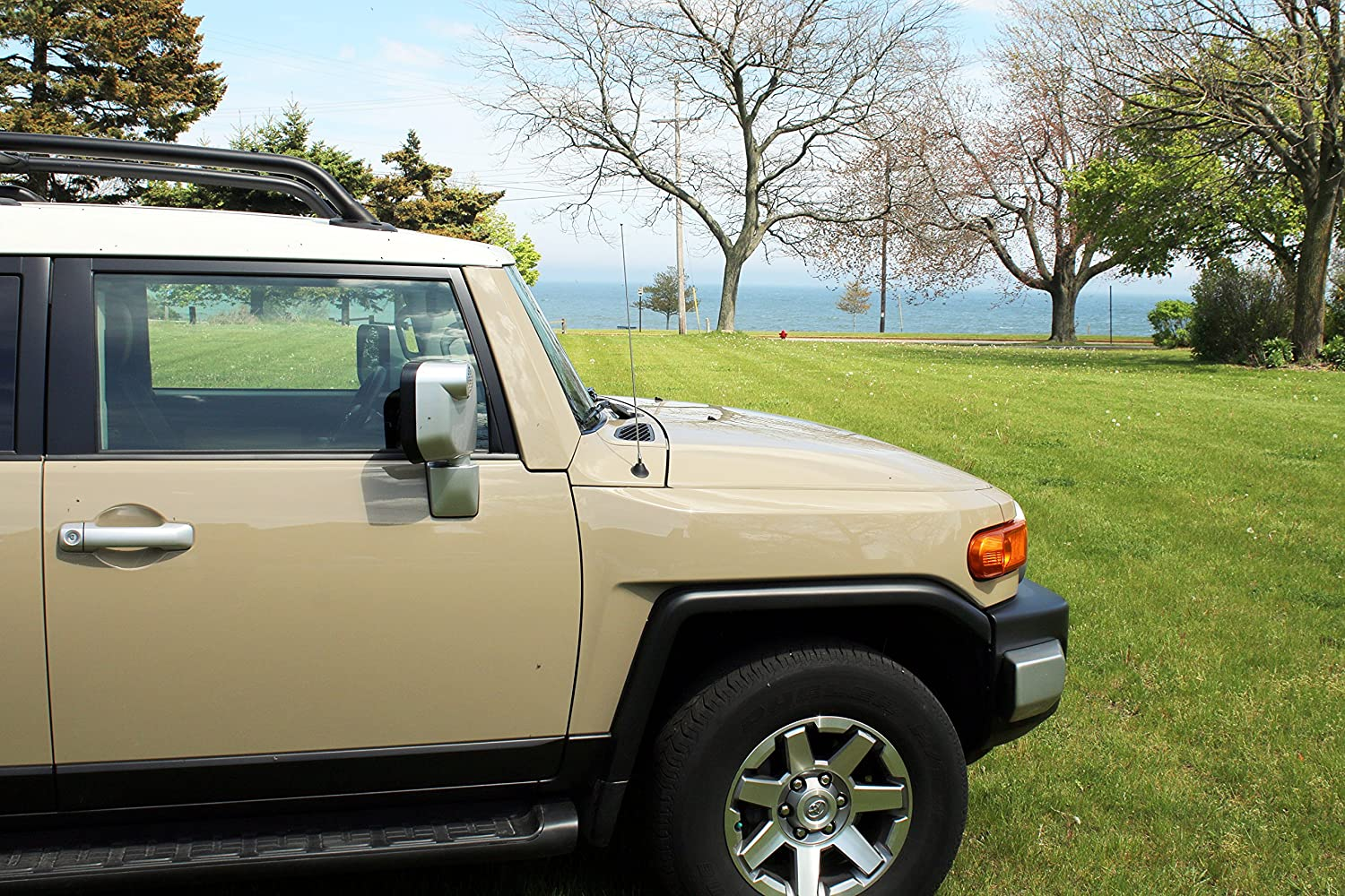 JL 2007-2020 4 Inch Purple Aluminum Antenna is Compatible with Jeep Wrangler JK Gladiator AntennaMastsRus Made In USA