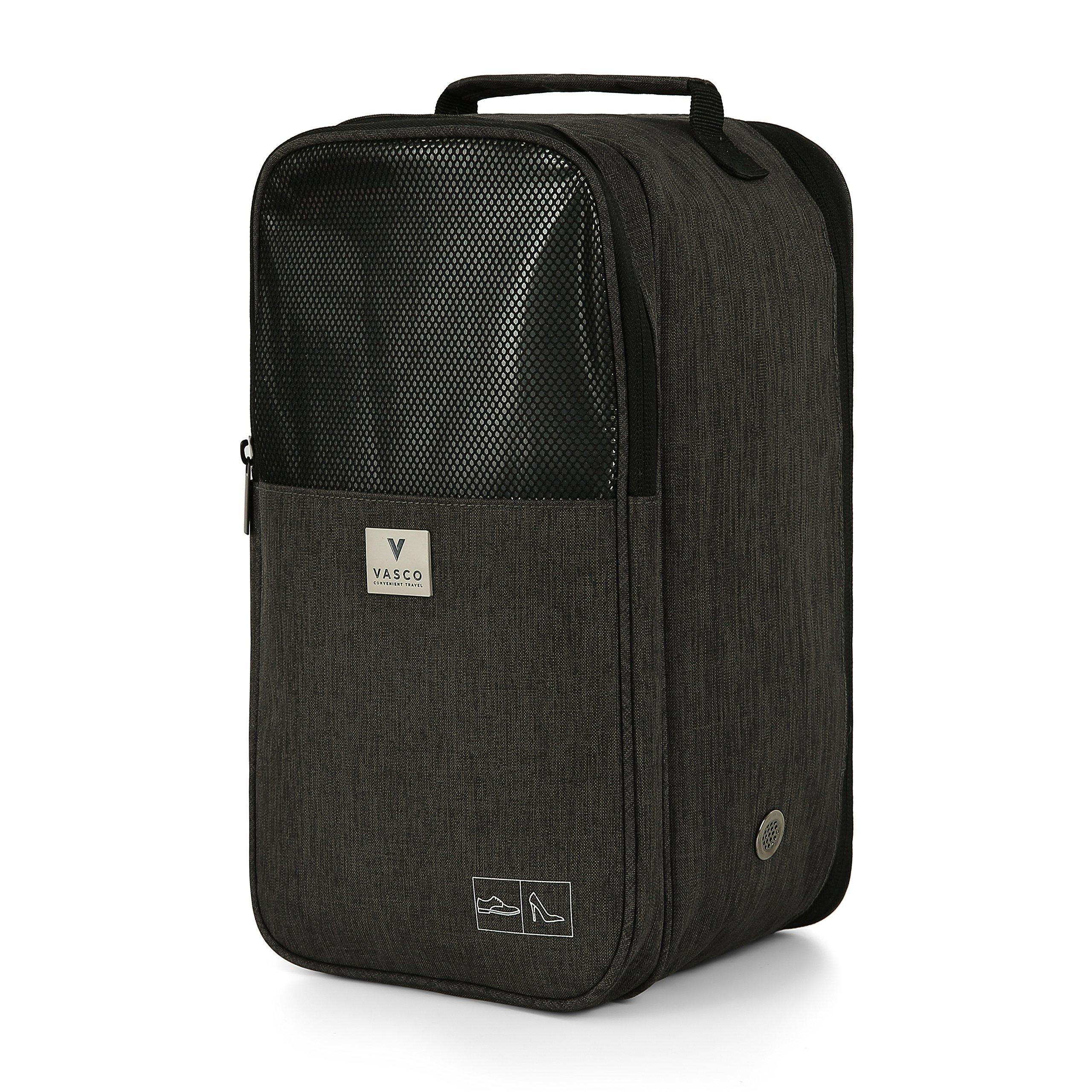 VASCO Shoe Travel Bag – Zipper Bags – Suitable as Shoe Gym Bag – For Men & Women - Black