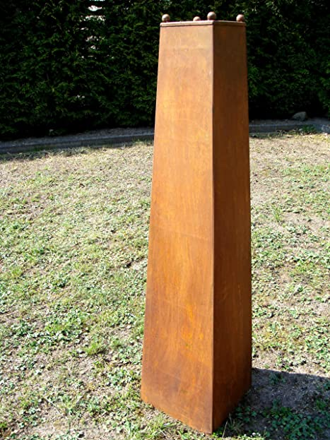 Säule Edelrost aus Metall !!!! 120cm !!!! Deko Gartendeko Rost ...