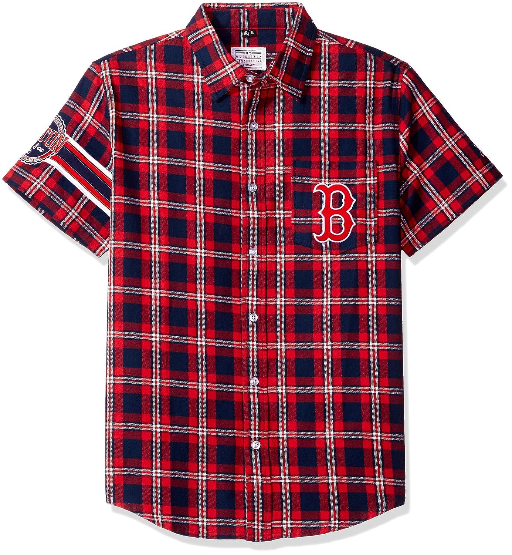 経典ブランド (Small, Red) Red) - Sleeve KLEW Shirt MLB Boston Red Sox Wordmark Flannel Short Sleeve Button-Up Shirt B00TO5NHV6, ORISEK.ONLINE:6cc419eb --- a0267596.xsph.ru