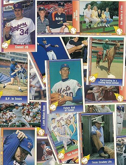 Nolan Ryan 25 Different Baseball Cards Featuring Nolan