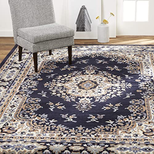 Home Dynamix Premium Sakarya Traditional Medallion Border Area Rug