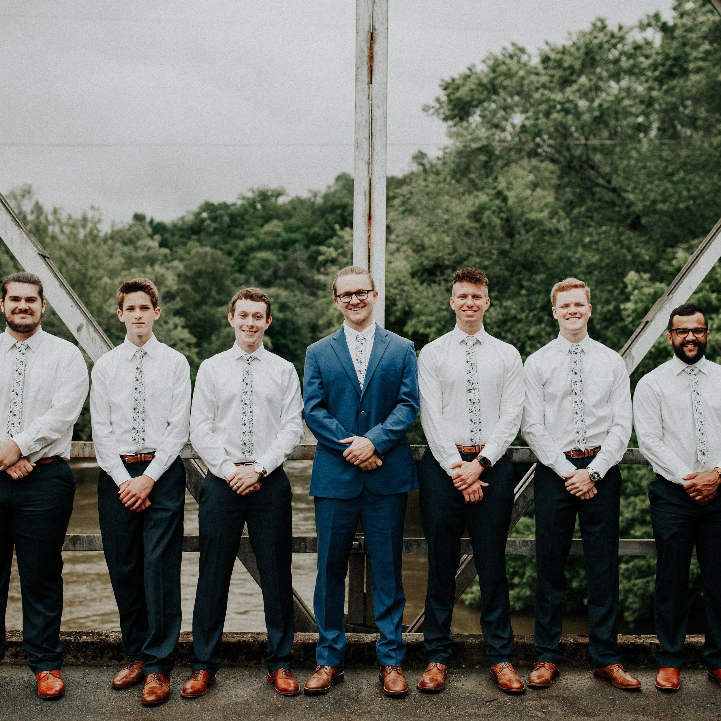 DAZI Men's Skinny Tie Floral Print Cotton Necktie, Great for Weddings, Groom, Groomsmen, Missions, Dances, Gifts. (Blue Bloom) by DAZI (Image #2)