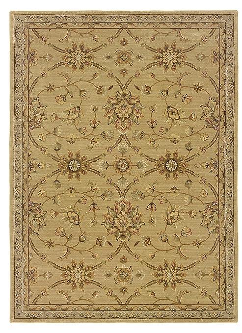 d264984ec35ac Amazon.com: Oriental Pattern Area Rug in Beige (4 ft. 5 in. L x 2 ft ...