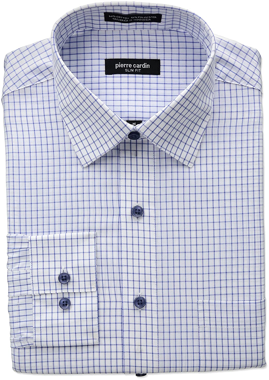 Pierre Cardin Mens Slim Fit Dress Shirt At Amazon Mens Clothing Store